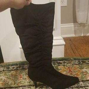 NWOT tall black apostrophe boots- size 10